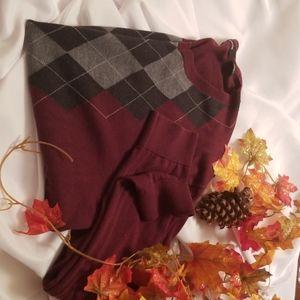 Claiborne Sweaters - Claiborne Vneck Argyle Sweater XXL